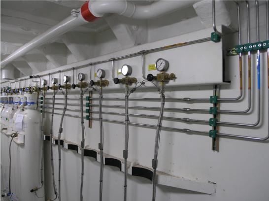 Exemple d'installation pour distribution d'oxygène