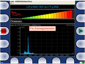 Fonction analyse et aide au graissage de palier roulement