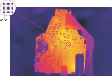 Image thermique avec technologie Super Résolution et qualité Mégapixel 1280 x 960 pixels