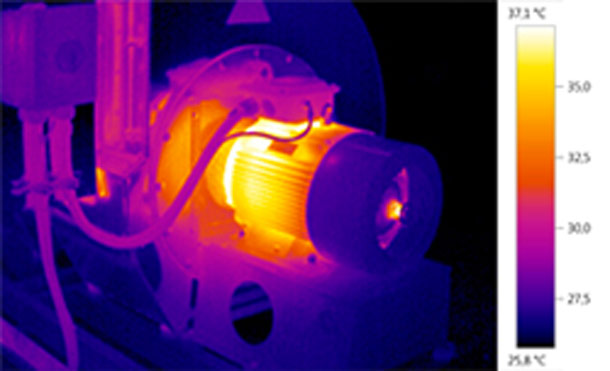 Thermographie infrarouge application machines tournante