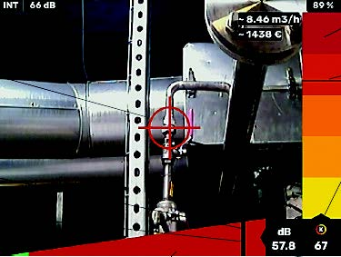 Picture downloaded from the compressed air leak detector LKS1000 V2+IR
