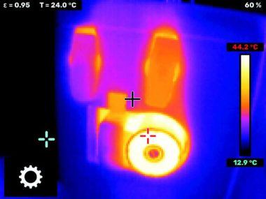 picture from the LEAKSHOOTER V2+ IR embedded infrared camera